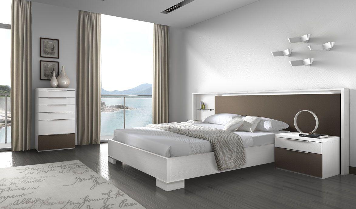 Cabecero con marco y estantería. | Dos Nature - Dormitorios Modernos ...
