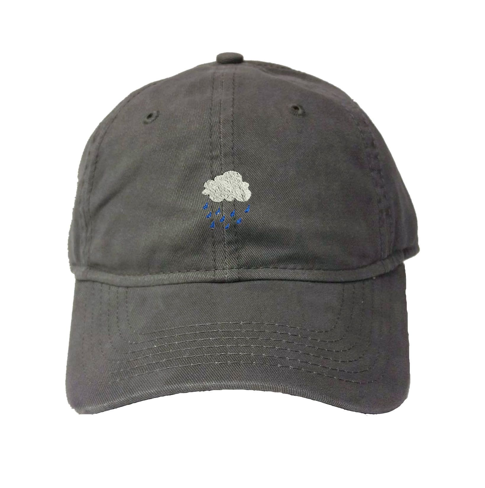 Adult Rain Cloud Embroidered Dad Hat Deluxe Cap 0fb1e0f31d68