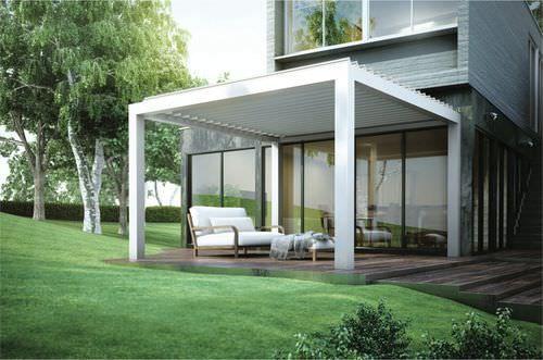 Aluminium pergola / PVC fabric sliding canopy - KEDRY - ATRIUM CONCEPT & Aluminium pergola / PVC fabric sliding canopy - KEDRY - ATRIUM ...