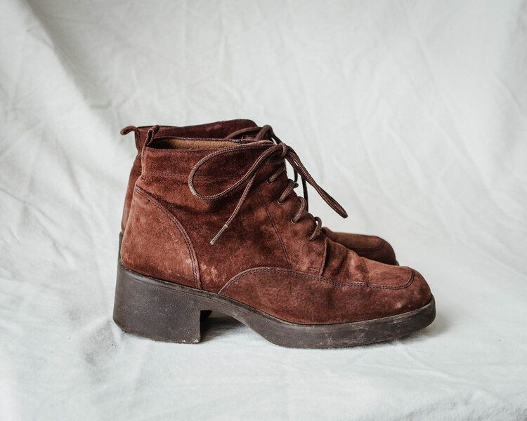 Vintage heeled lace up boots Boots, Vintage heels, Lace