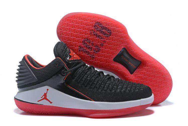 Nike Air Jordan 32 Low Basketball Shoes Black Red On Www Offwhiteonline Com Air Jordans Air Jordan Basketball Shoes Black Shoes