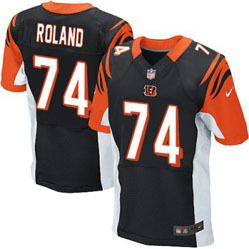 df03026b7 $78.00--Dennis Roland Jersey - Elite Black Home Nike Stitched Cincinnati  Bengals #74 Jersey,Free Shipping! Buy it now:click on the picture, than  click on