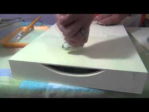 Bandeja de colo marmorizada com estencil e découpage - Rosane Nogueira - YouTube
