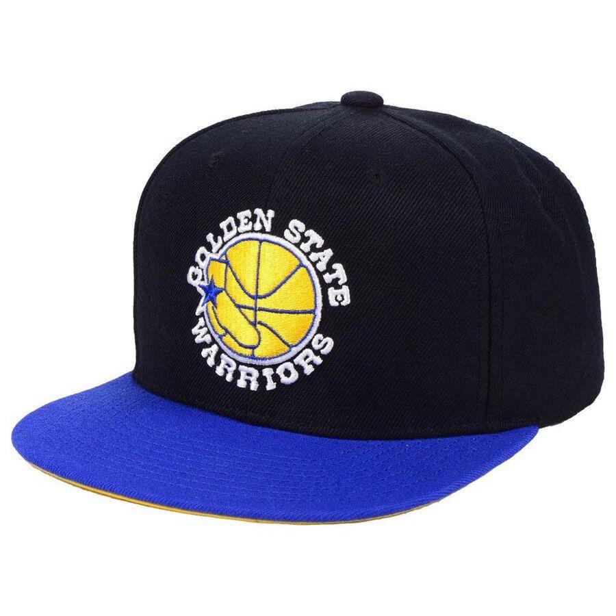 hot sale online 46d6a 86de9 Golden State Warriors Mitchell   Ness 2-Tone Classic Adjustable Snapback Hat  - Black