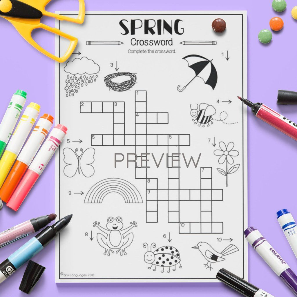 Seasons Spring Crossword