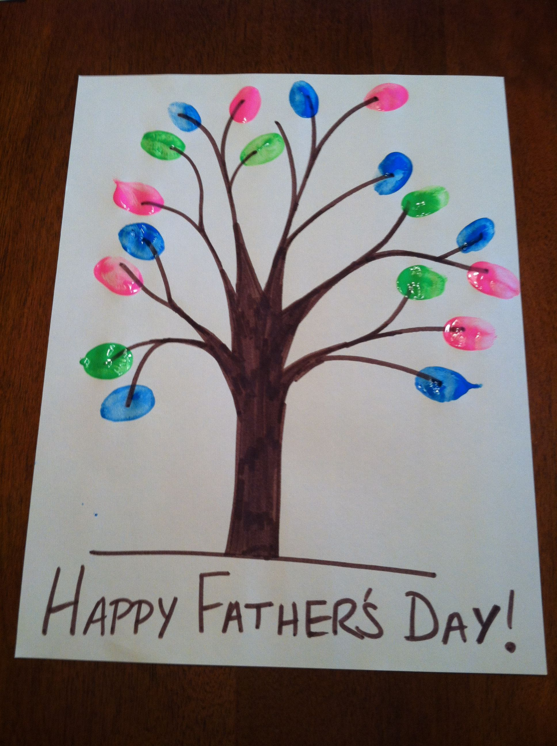Father's day craft #fingerpainting | school | Pinterest