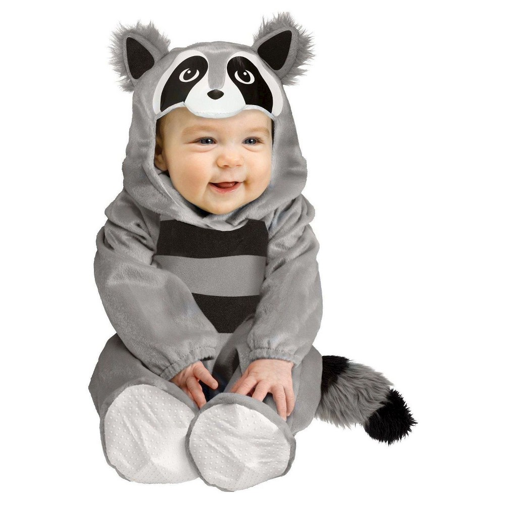baby raccoon baby costume gray - (6-12 months), infant boy's, size