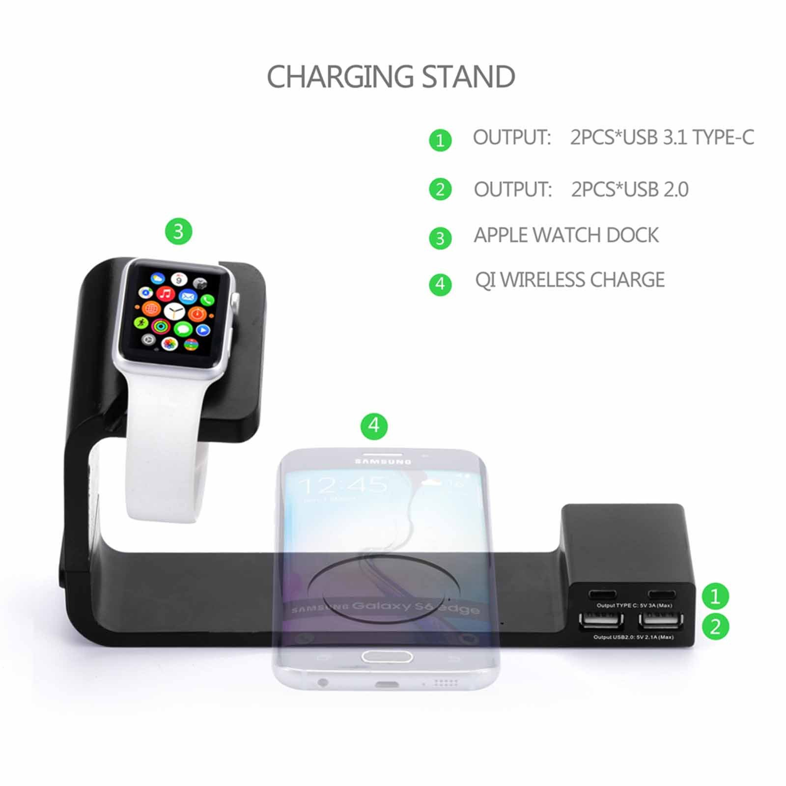 Multi Functional Qi Wireless Charging Stand Plate Charge