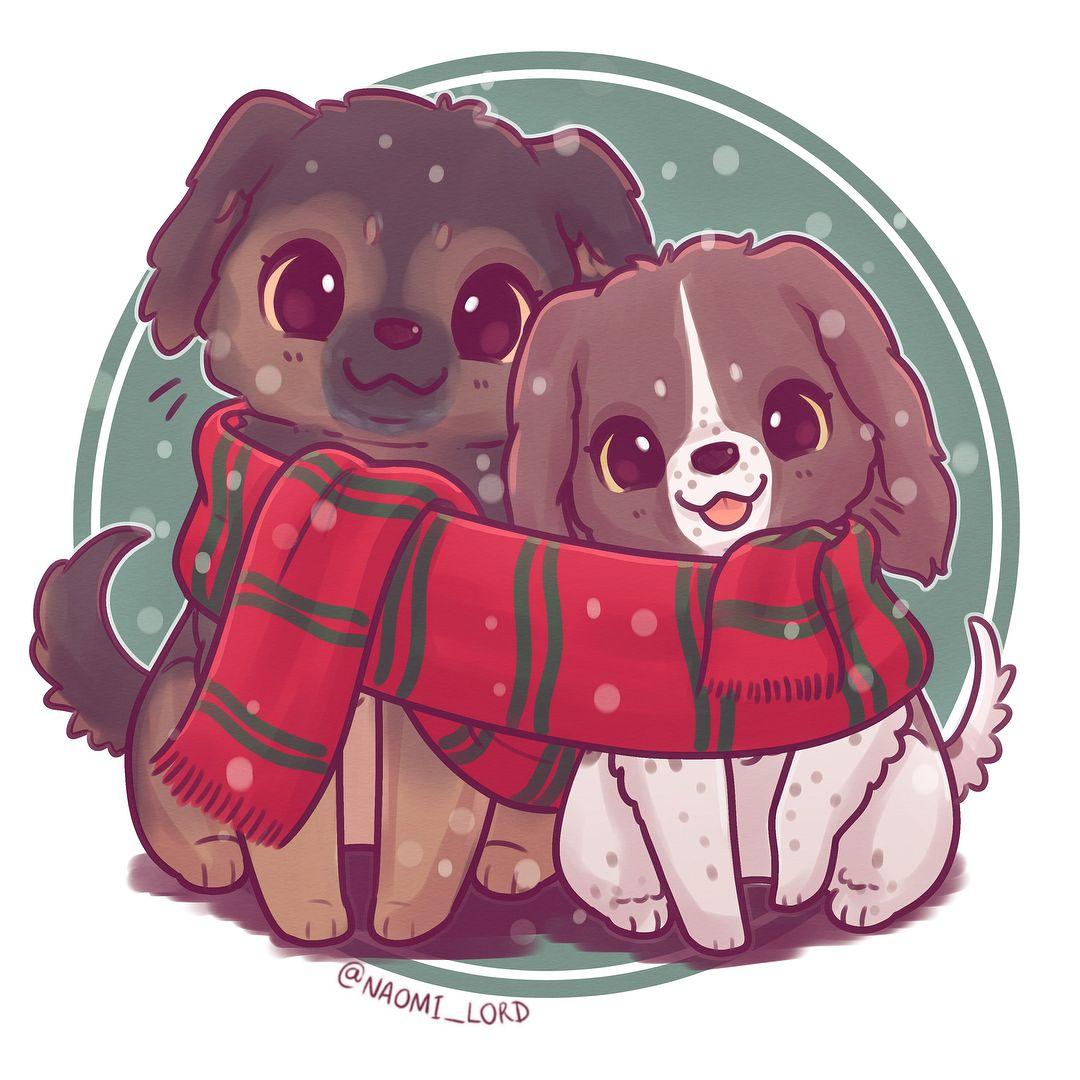 Naomi Lord On Instagram Drew My Doggos Eilidh And Luna For Christmas 3 I Drew Them La Cute Animal Drawings Kawaii Cute Kawaii Drawings Cute Kawaii Animals