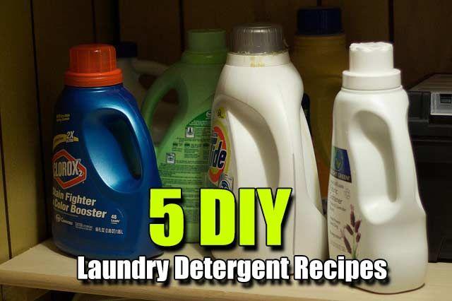 5 Diy Laundry Detergent Recipes Laundry Detergent Recipe Diy