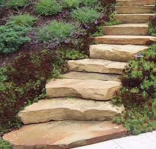 Very Neat Stone Steps U003eu003e Great For Hillsides Where The Stepping Stones Just  Slide Down The Hill!
