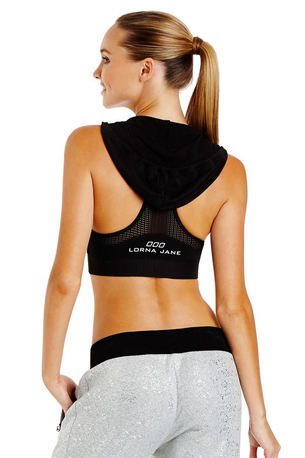 9d0f879e0aaf0 Laser Hooded Sports Bra