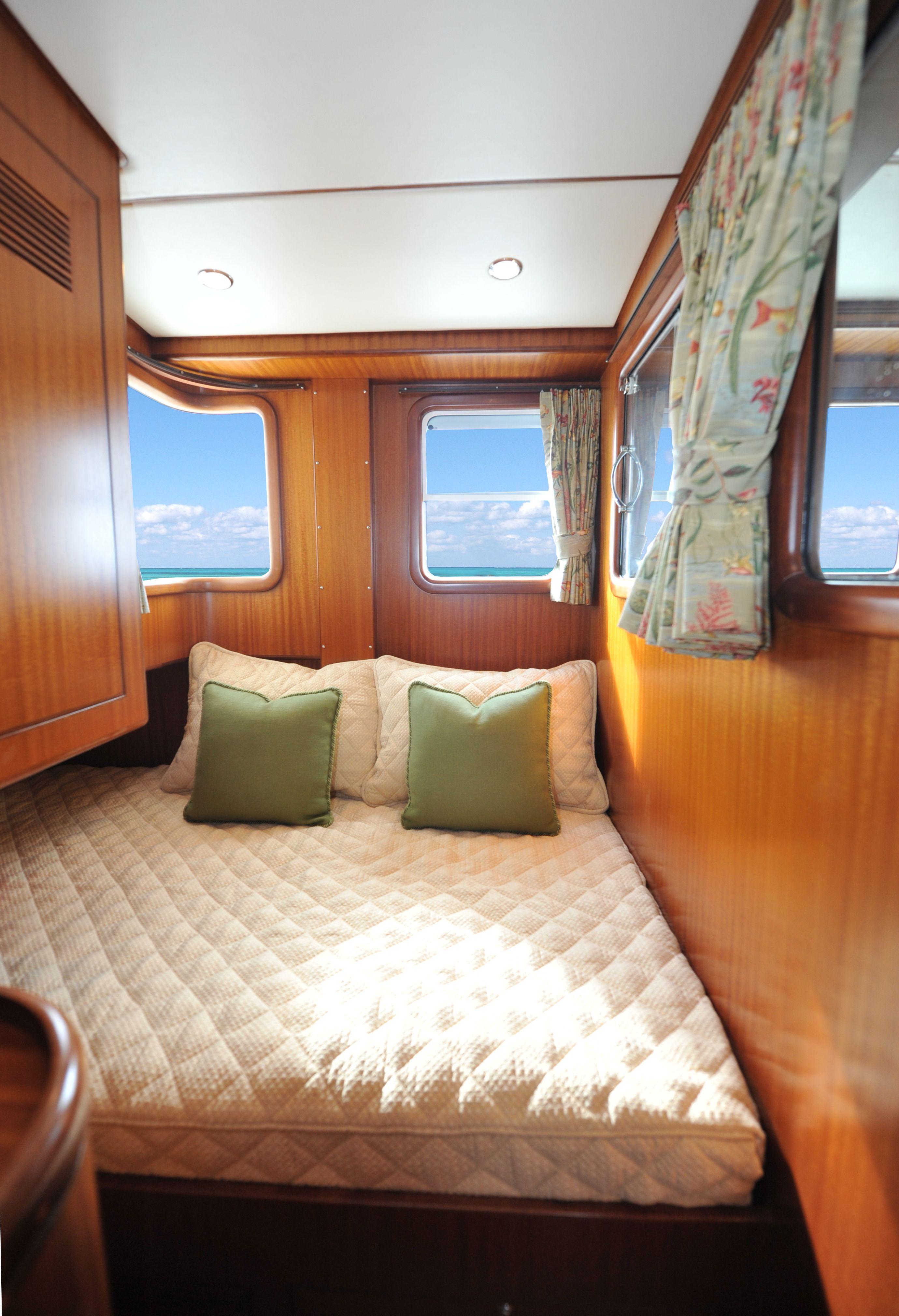 Nordhavn 55 Captains Cabin Custom Yacht Interior Design Destry Darr Designs