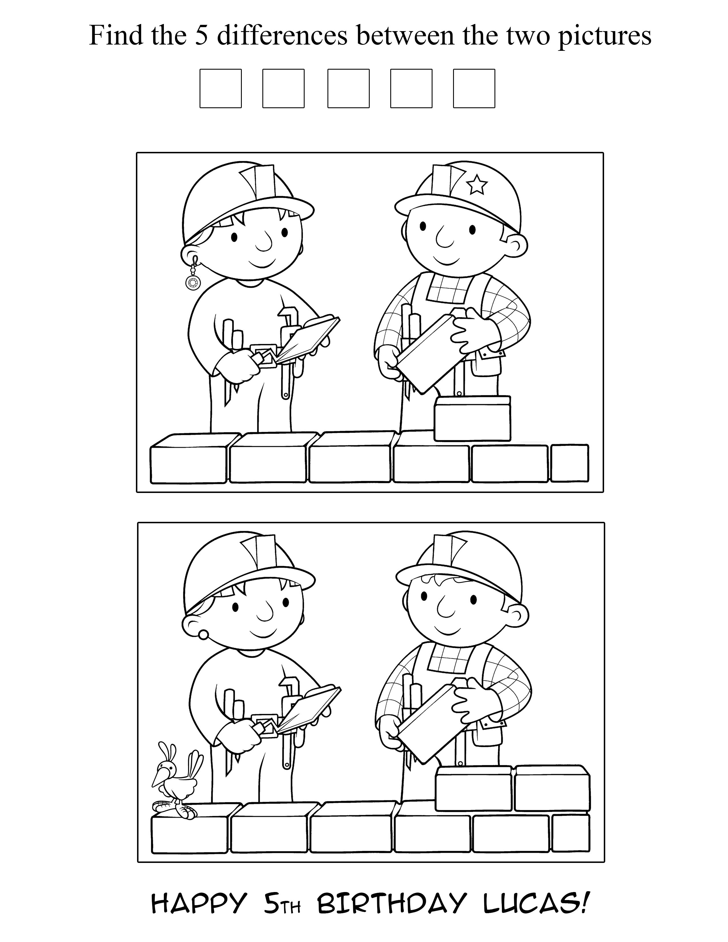 Bob The Builder Coloring Pages Bob The Builder Birthday