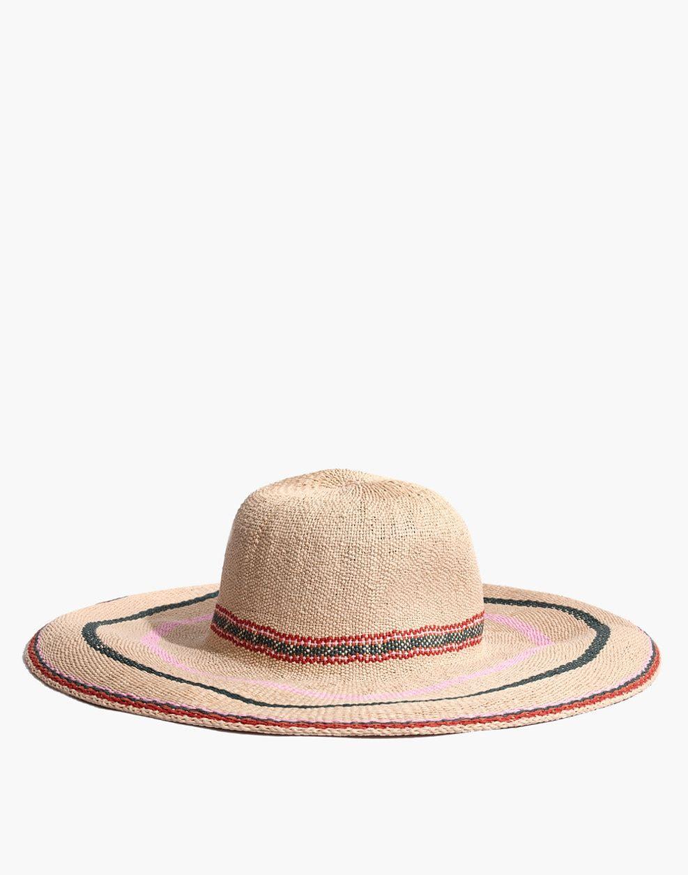 ac531c482a3 Madewell x Biltmore® Tulum Striped Straw Hat   hats
