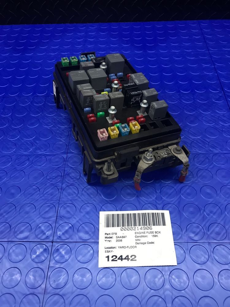 gm saab 97x 9-7x part wire wiring junction fuse block relay panel box  15293339 #gm