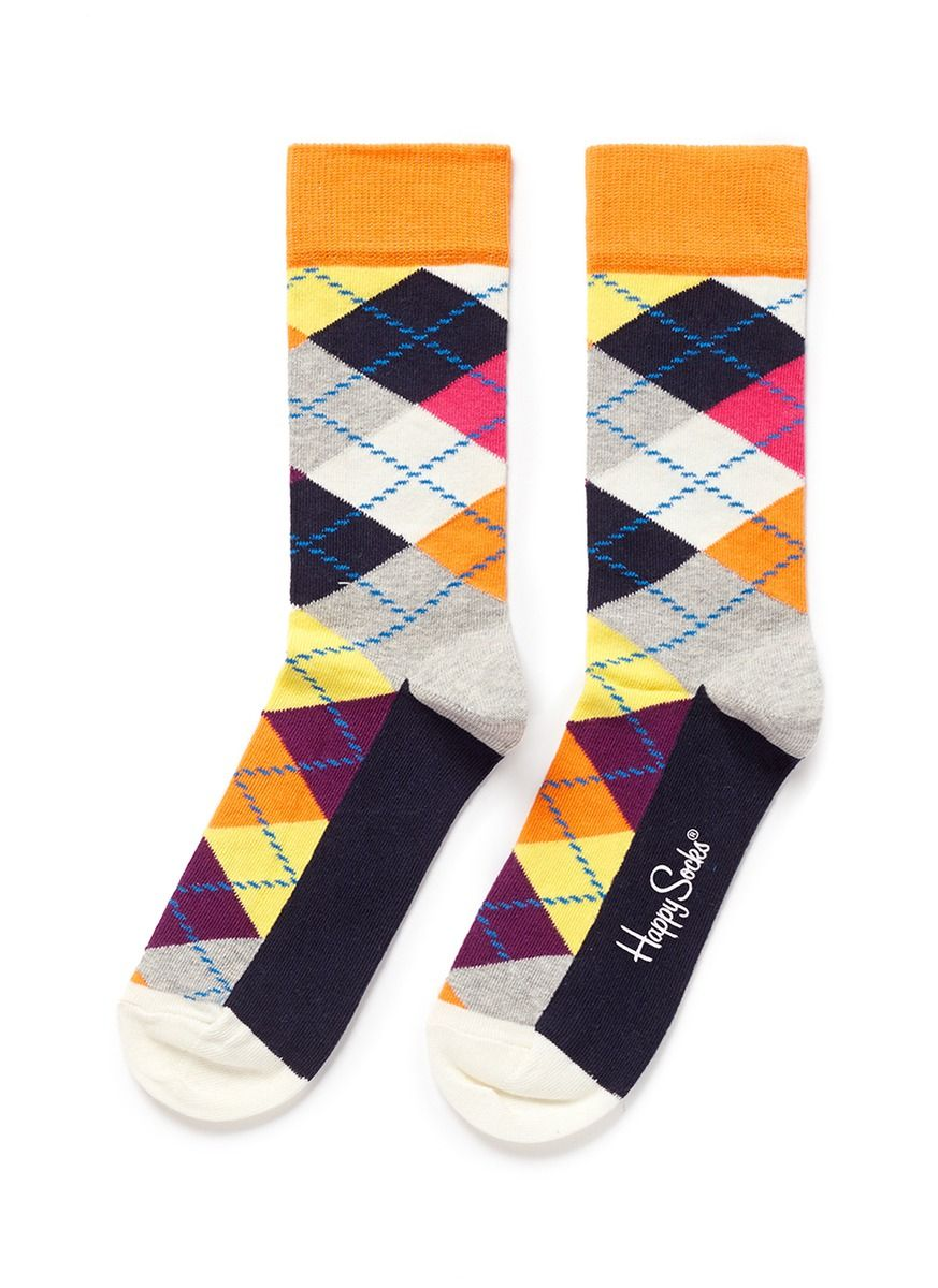 HAPPY SOCKS - Argyle socks | Multi-colour Socks | Womenswear | Lane Crawford - Shop Designer Brands Online