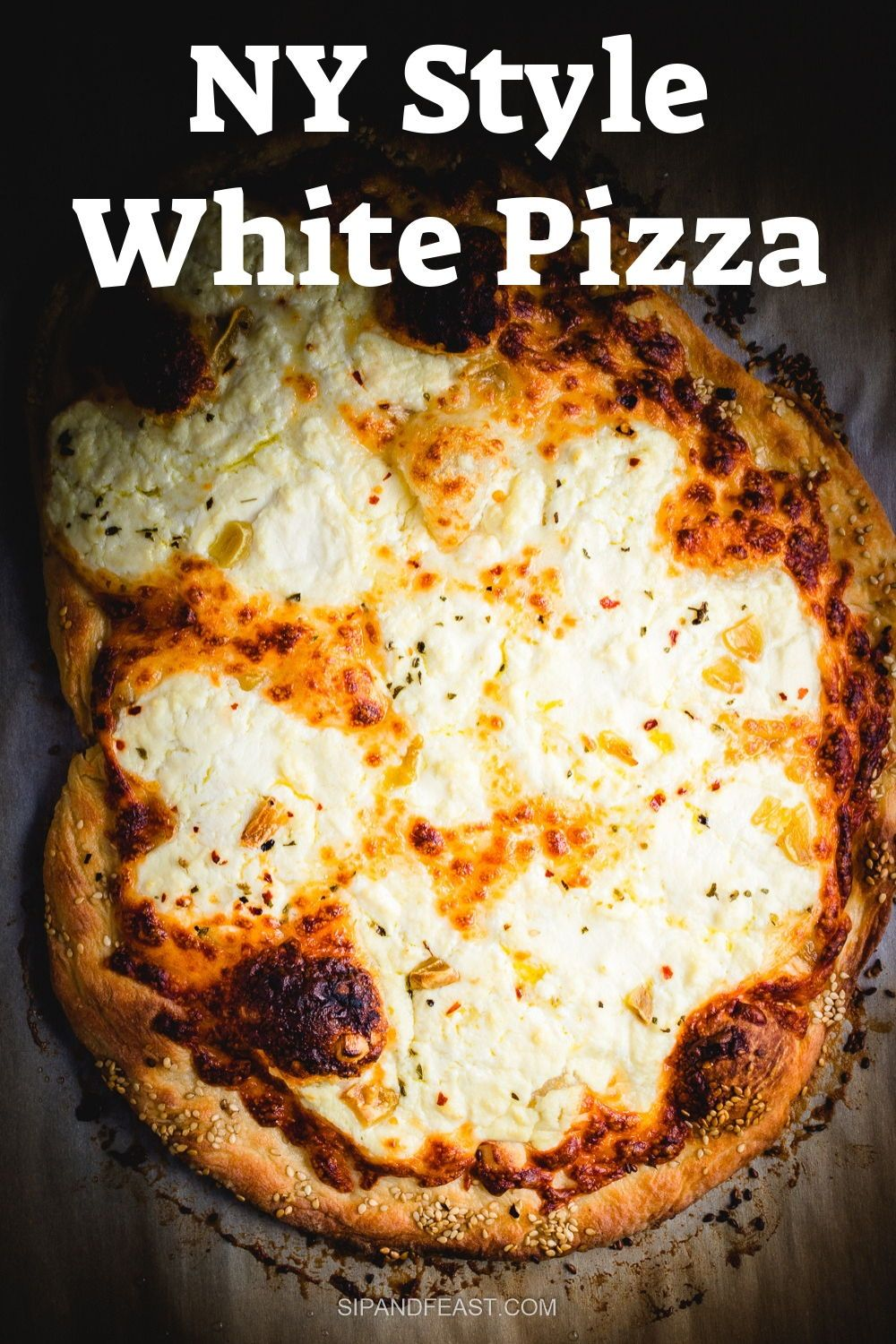 Photo of Pizza Bianca or White Pizza With Roasted Garlic – Sip and Feast