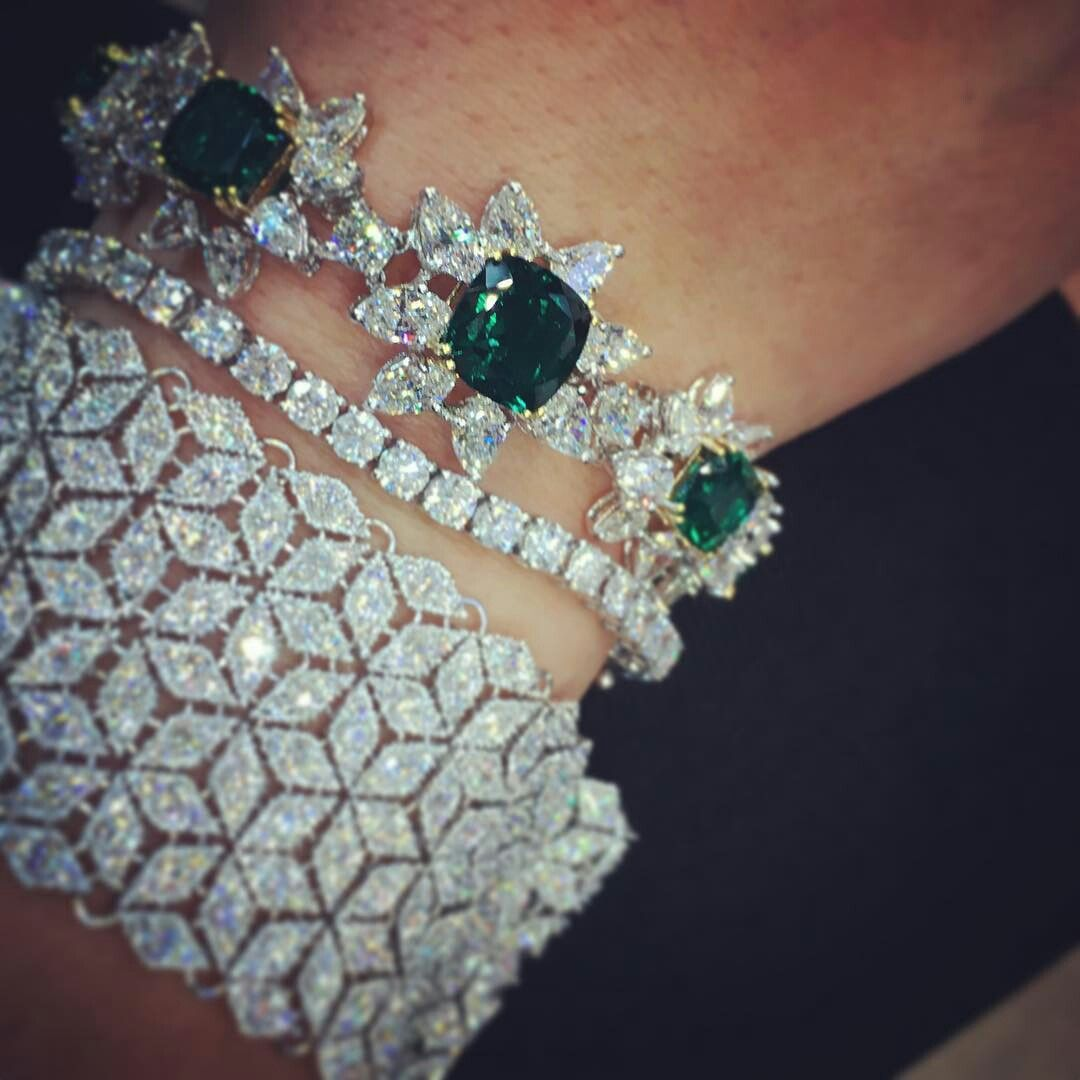 Gorgeous Indian Colombian Emerald Necklace With Pearls Precious