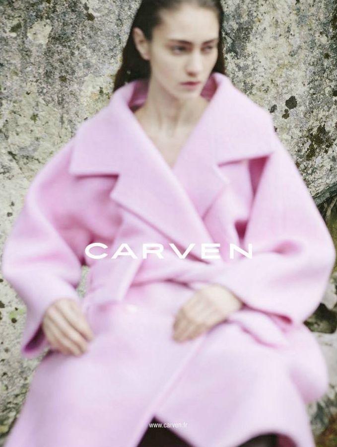 Marine Deleeuw for Carven Fall 2013 campaign by Viviane Sassen.