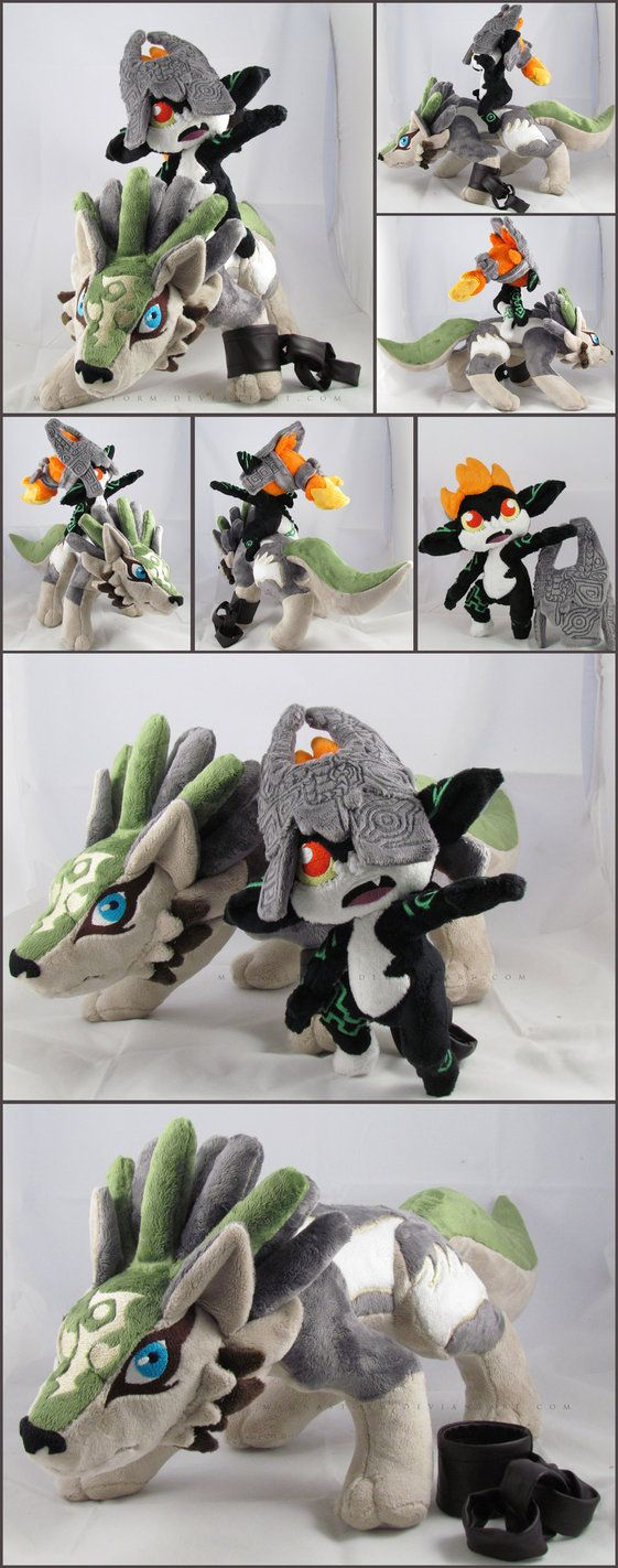 The legend of zelda twilight princess wolf link and midna plush Want ...