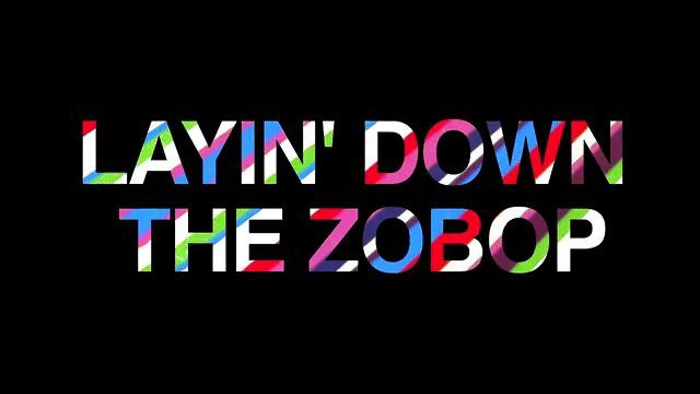 """Jim Lambie Zobop Video by Bass Museum of Art. """"Layin' Down the Zobop"""" @ the Bass Museum video. Jim Lambie's """"Zobop"""" was installed August 2011 as a part of our Vanishing Points exhibition. An entire team worked for a week to produce an amazing site-specific work of art."""