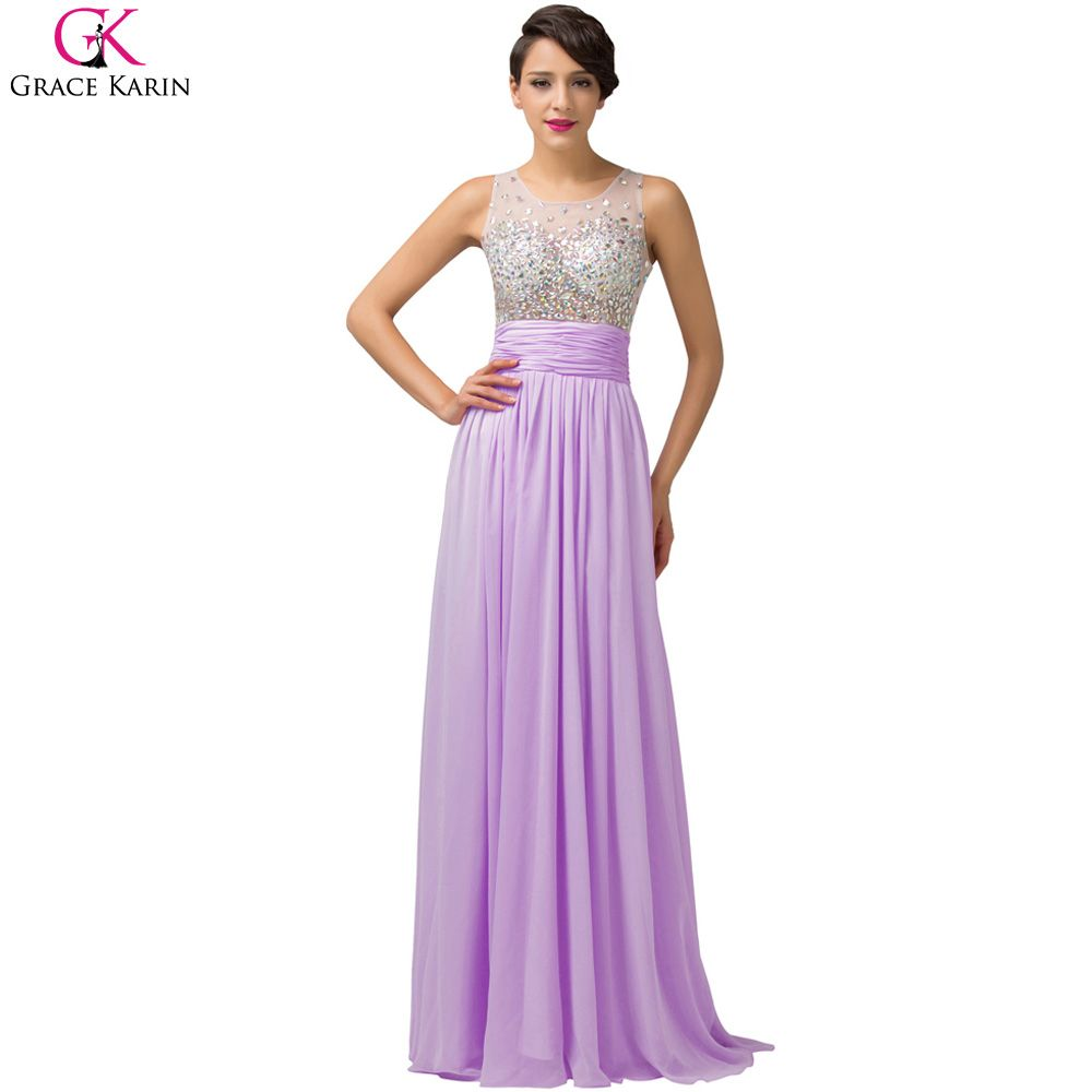 Click to buy ucuc grace karin long prom dresses chiffon tulle see