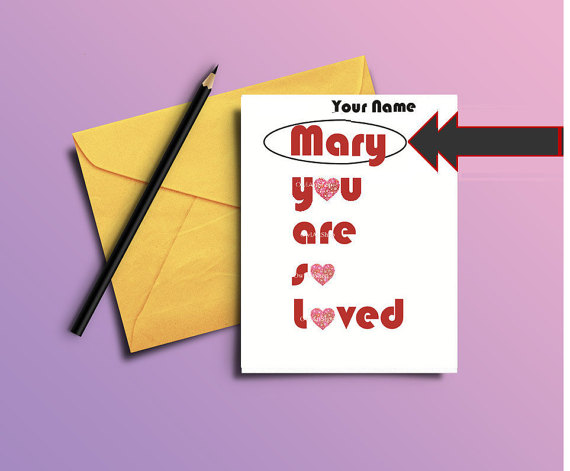 You are so loved  Valentines Card Wedding Engagement by OwlArtShop