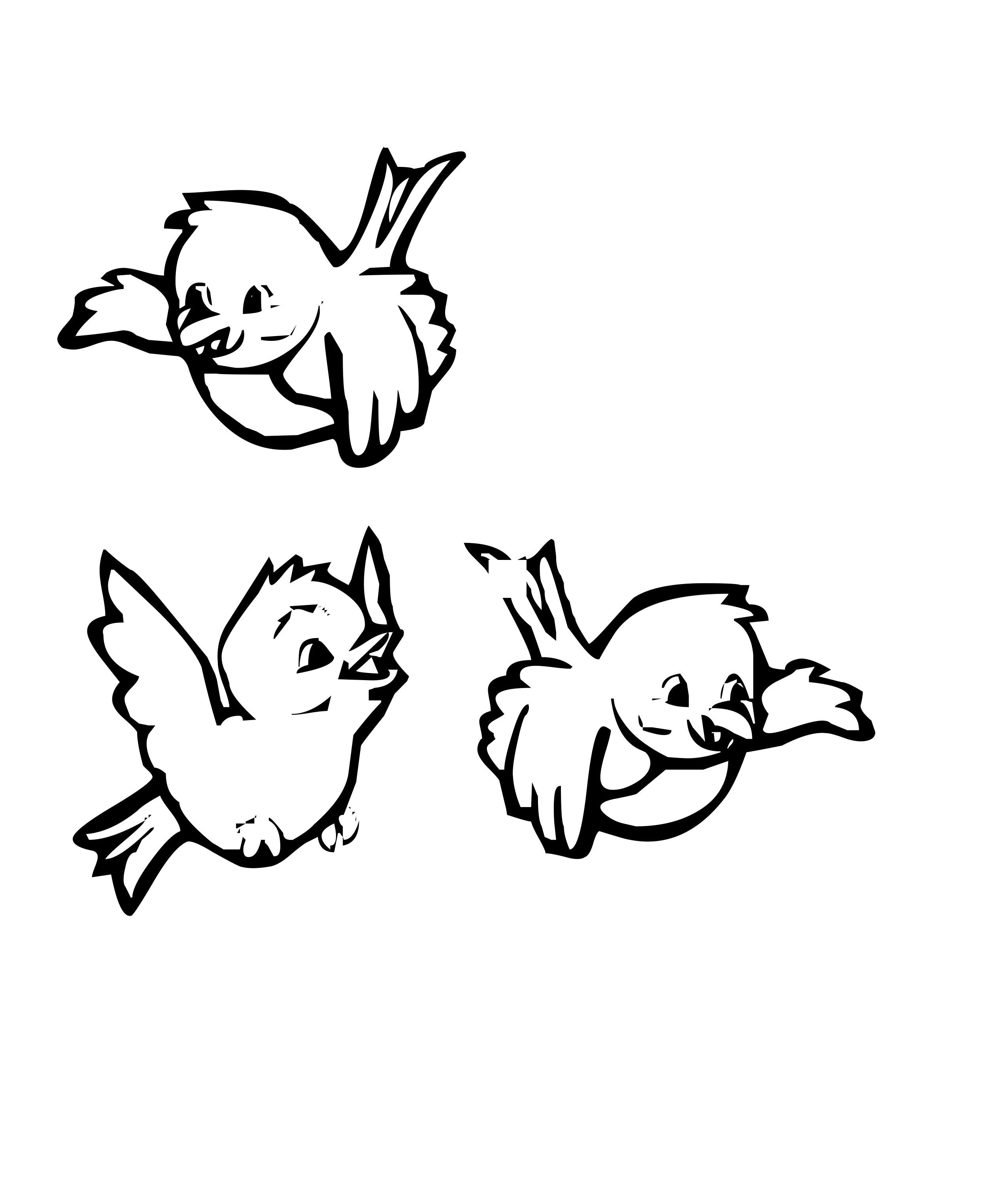 Three Birds Flying Coloring Pages Bird Coloring Pages Cute