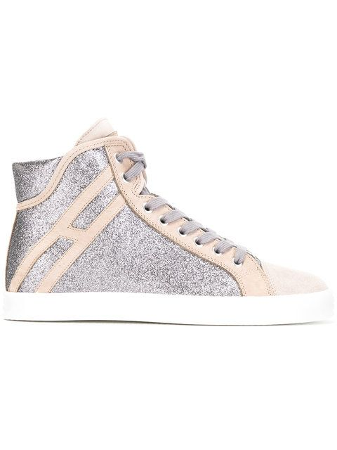 HOGAN REBEL Glitter Panel Sneakers. #hoganrebel #shoes #sneakers
