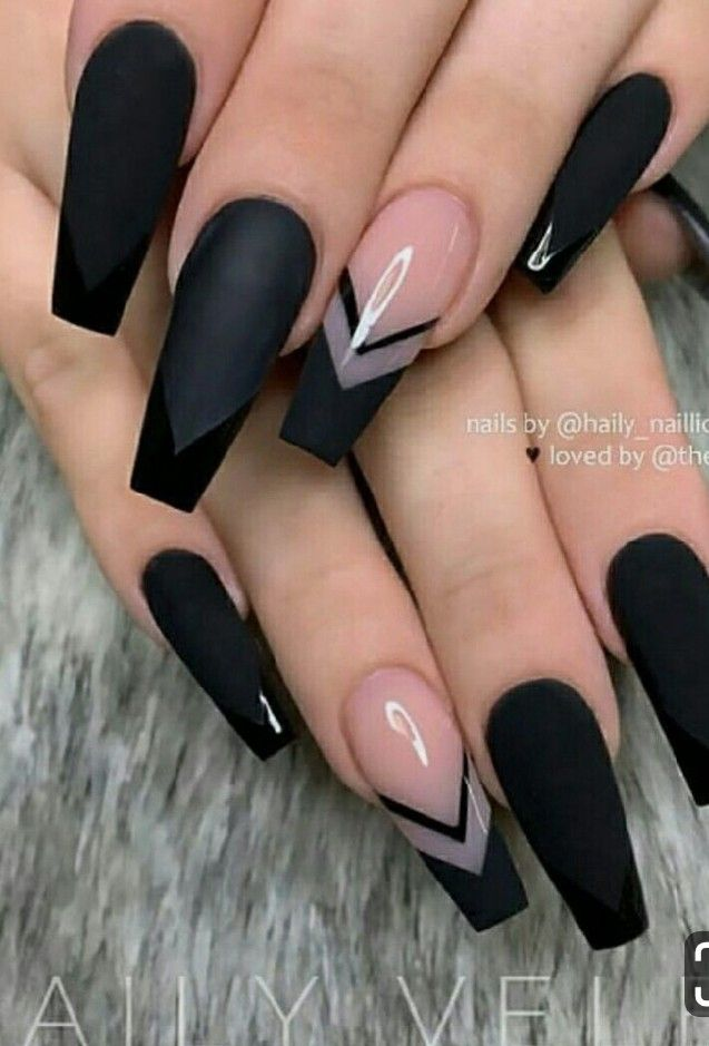 The Most Beautiful Black Winter Nails Ideas Best Acrylic Nails Coffin Nails Long Pretty Acrylic Nails