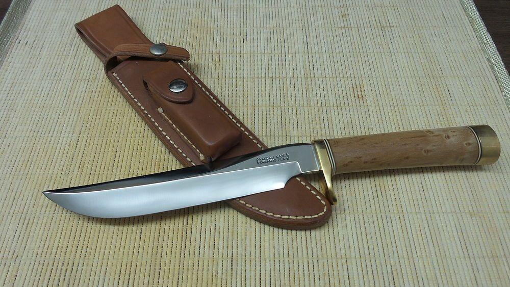 """Randall Made Knives Model 3 Hunter Knife Maple Wood Handle 12 1/4"""" Overall Brass #RandallMadeKnives"""