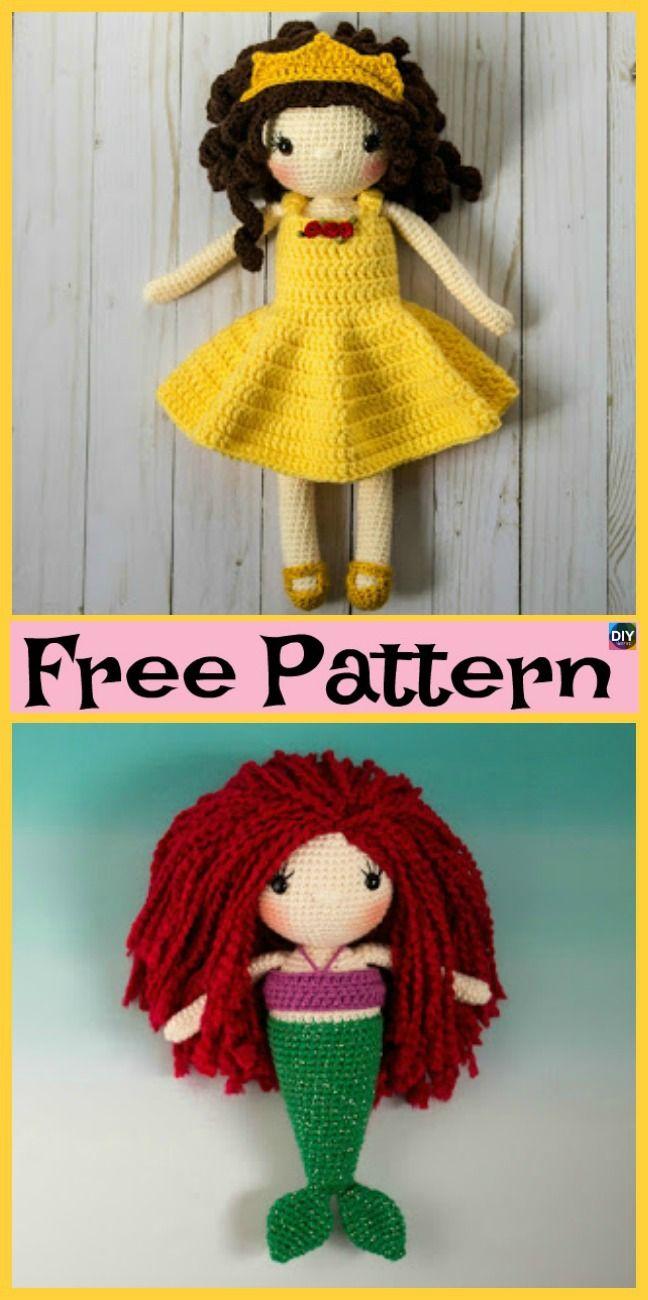 8 Cuest Crochet Doll Amigurumi Free Patterns | Amigurumi | Pinterest ...