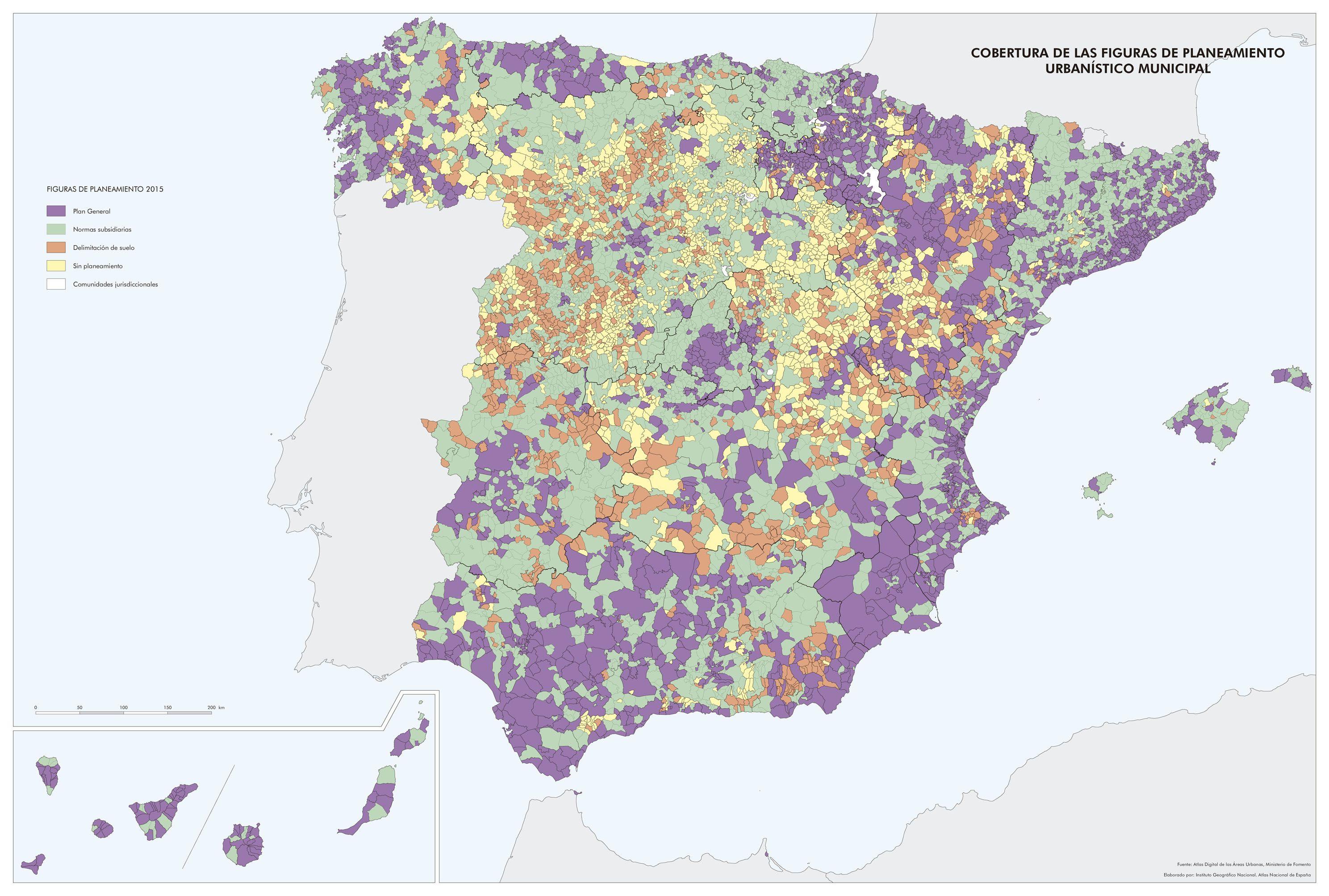 Mapa De Cobertura De Las Figuras De Planeamiento Urbanístico Municipal 2015 España Mapas Geografía Humana Geografia E Historia