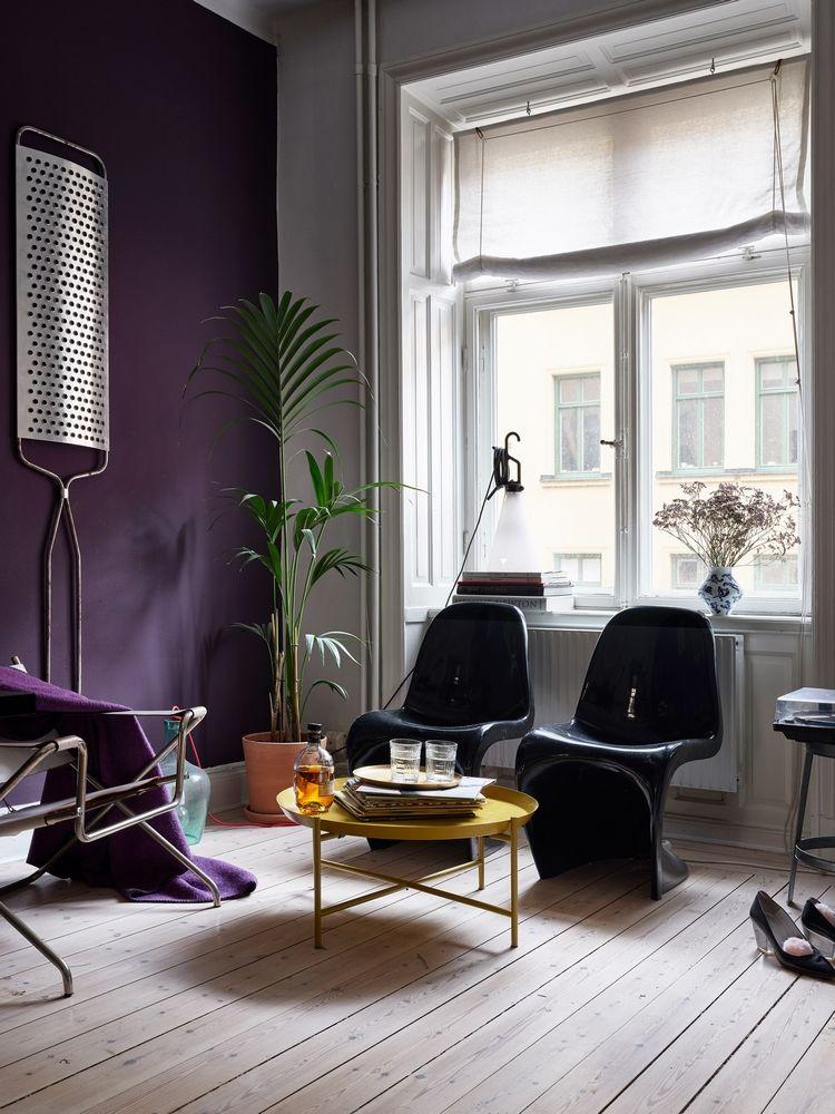 UN MUR VIOLET | Murs violets, Salons violet, Déco maison