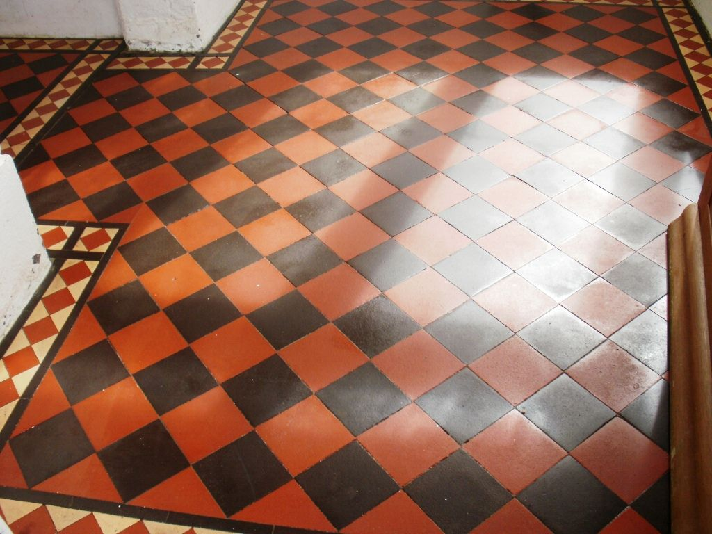 Edwardian Quarry Tiled Porch After Cleaning And Sealing Quarry Tiles Tiled Hallway Porch Tile