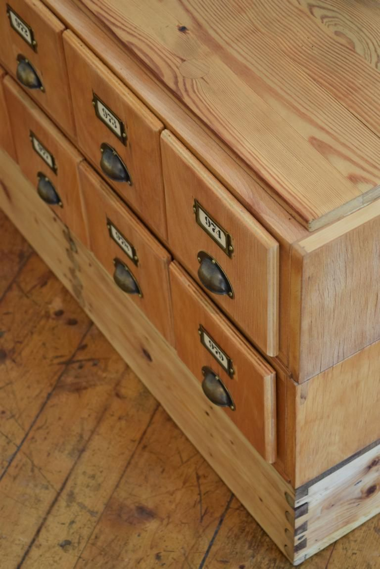 Schubladenschrank Antik Sideboard Vintage TV Rack Holz ...
