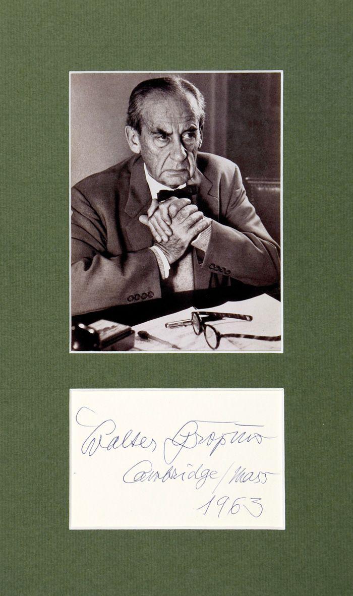 Walter Gropius. 1963