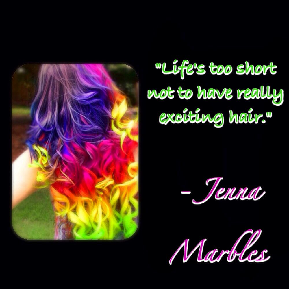 exciting hair crazy hair colors rainbow hair quotes jenna