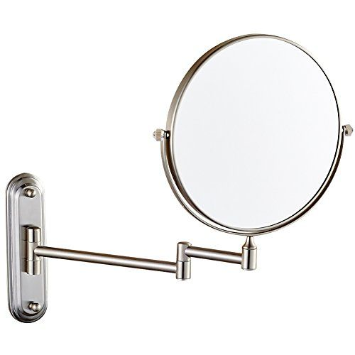 Gurun 8inch Twosided Swivel Wall Mount Makeup Mirror With 10x