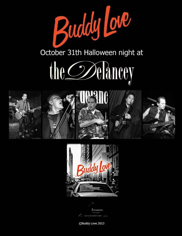 Buddy Love Flyer For The Delancey, NYC CD Release Party 2011