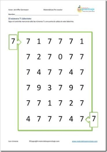 Resultado de imagen para laberinto numero 7   mate... ideas y juegos ...