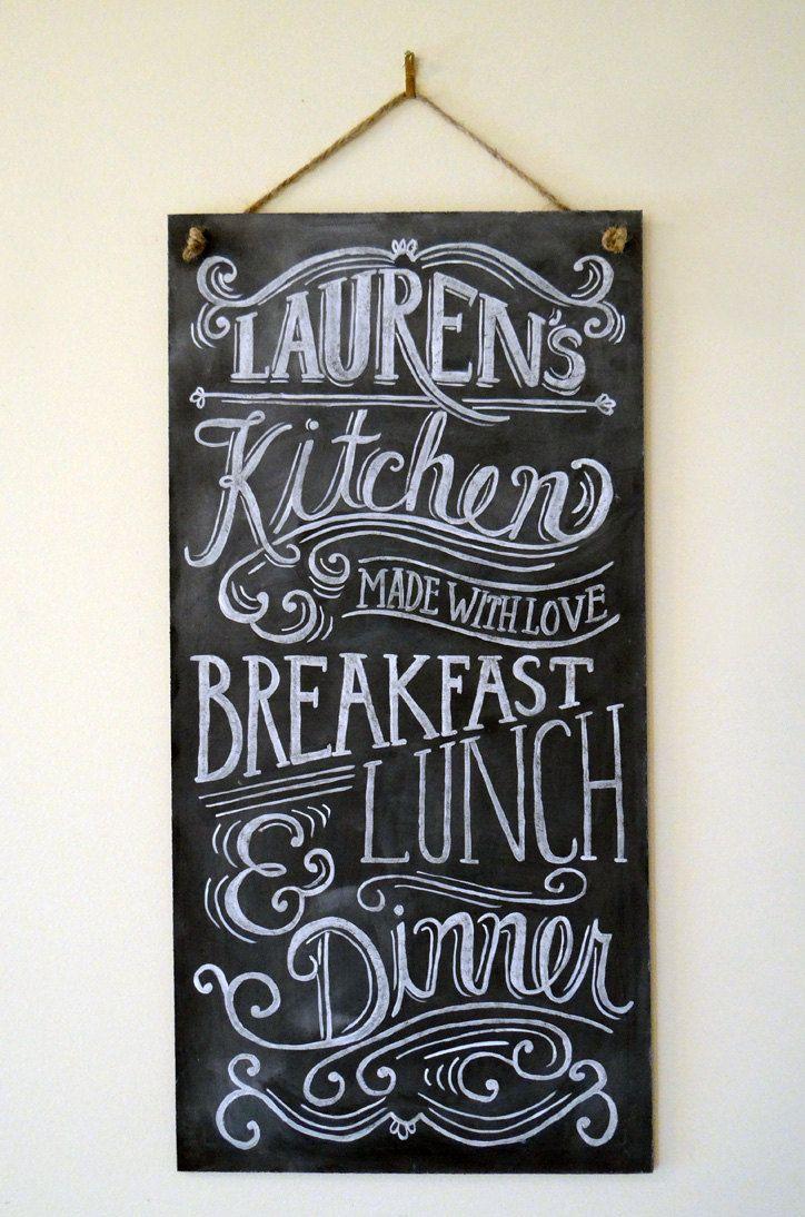 Custom Chalkboard Kitchen Chalkboard Sign Typography Art Custom Kitchen Sign Personalized Kitchen Chalkboard Sign Kitchen Chalkboard Custom Chalkboard