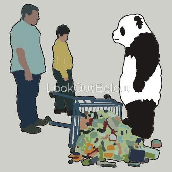 Never Say No To Panda! [Black Outline]
