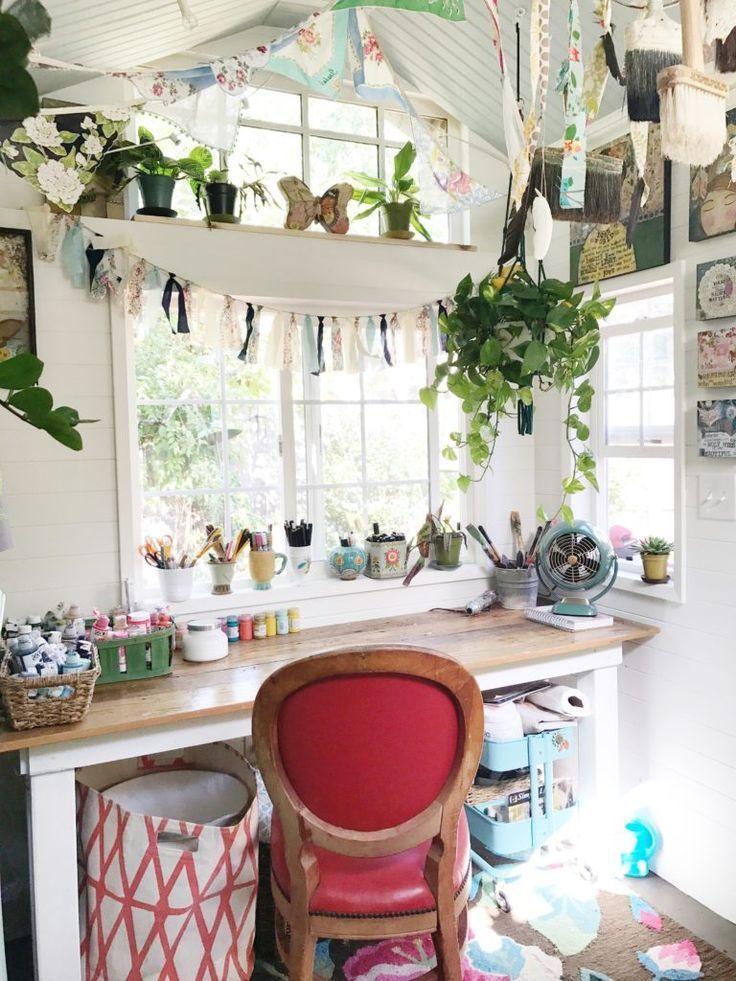 Tiny House Studio, she shed, art studio. #studio #office #wherewomencreate