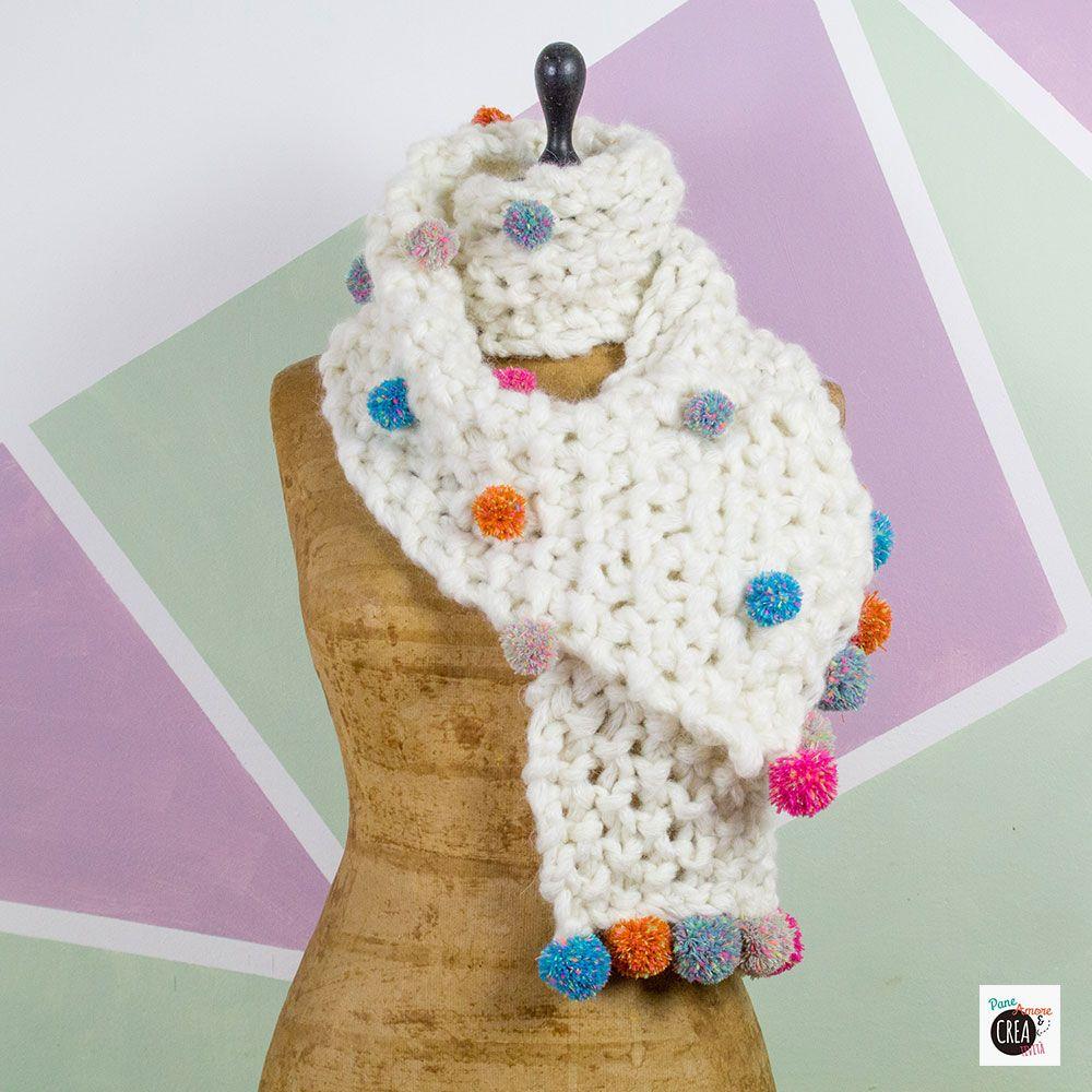 Cómo hacer una bufanda con pompones - Pan, amor y creatividad | Pan ...