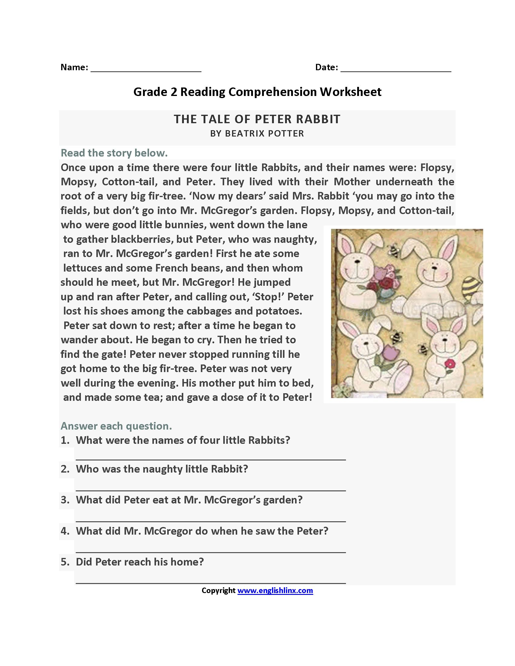 Frog Reading Comprehension Worksheets In