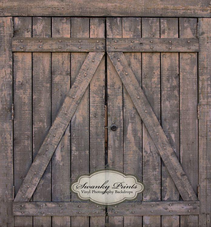 4ft X 4ft Dark Barn Doors Vinyl Photography Backdrop Floordrop Newborn Photos Backdrops Vinyl Backdrops Barn