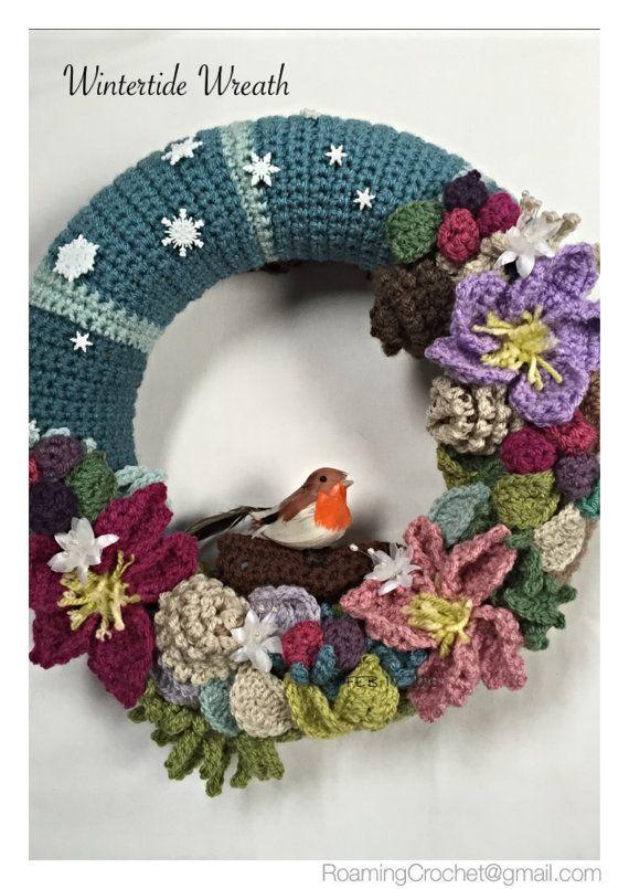 Photo of Items similar to Wintertide Decorative Crochet Wreath on Etsy