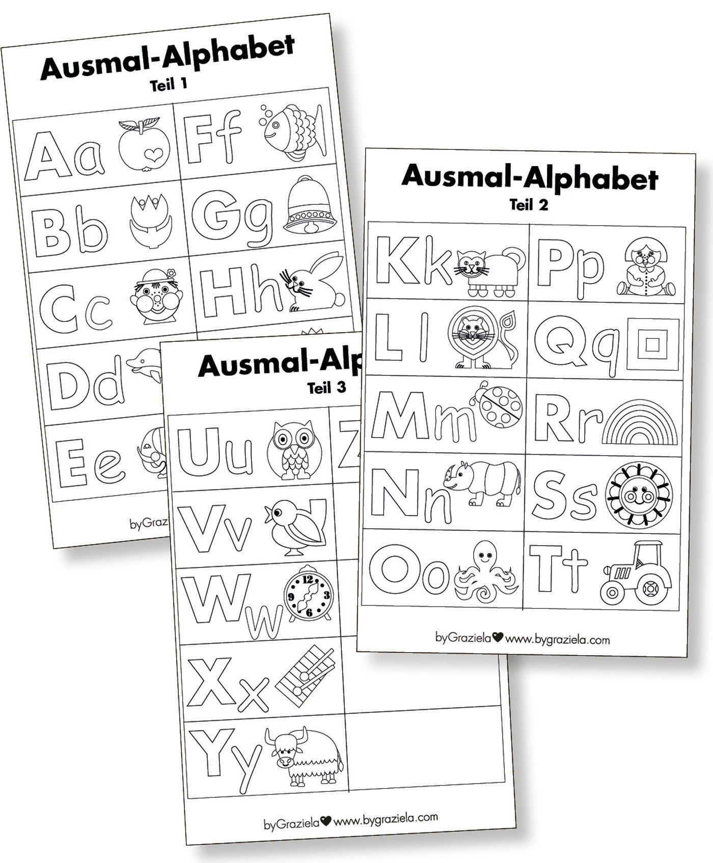 Freebie Alphabet Ausmal Vorlage Alphabetvorlagen Alphabet Vorlagen